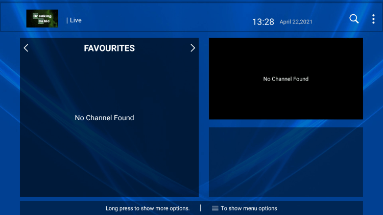 That's it! You can now add/remove channels from Favorites within breaking cable