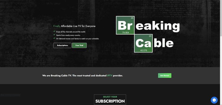 Prior to using the Breaking Cable IPTV service, you will need to register for an account on their official website.
