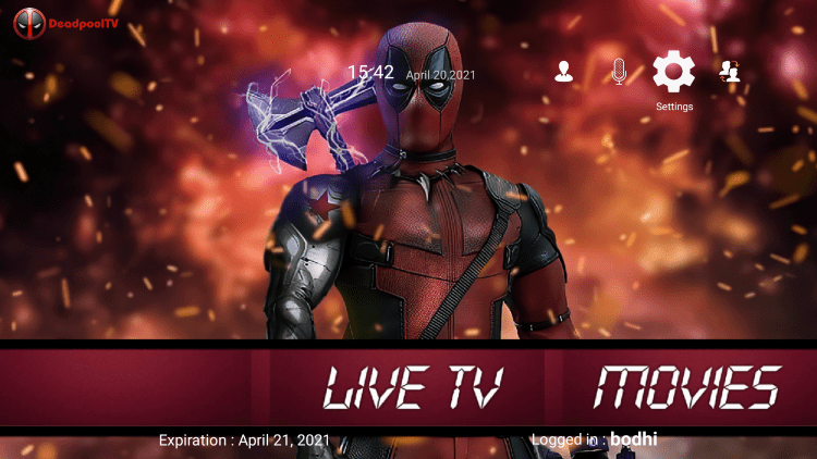 In the example below, we show how to integrate an external player within Deadpool TV.
