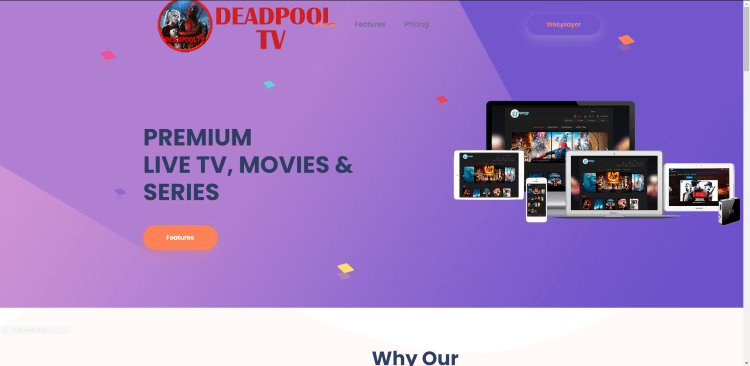Prior to using the Deadpool TV IPTV service, you will need to register for an account on their official website.