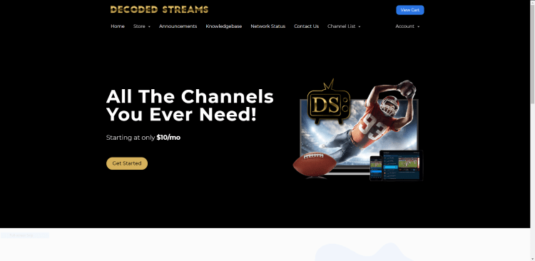 Prior to using the Decoded Streams IPTV service, you will need to register for an account on their official website.