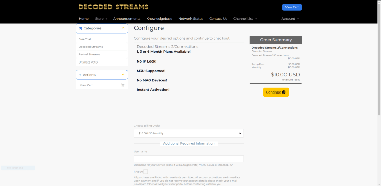 You will then be redirected to the Configure page. Click Continue.