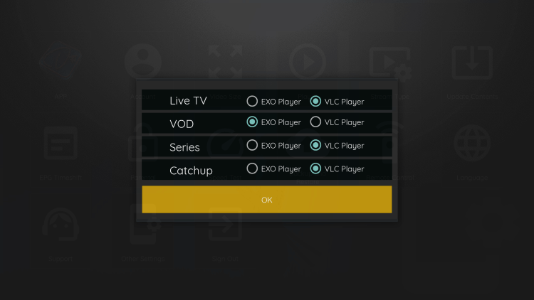 That's it! You can now integrate external video players within dezo iptv