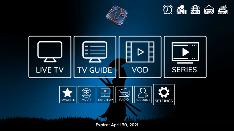 In the example below, we show how to integrate an external player within Dezo IPTV.