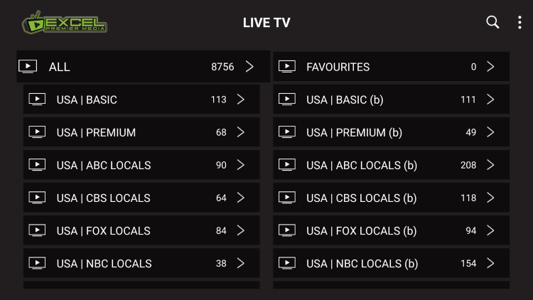 Excel Premier Media provides over 8,800 live channels starting at $12.00/month with their standard plan.