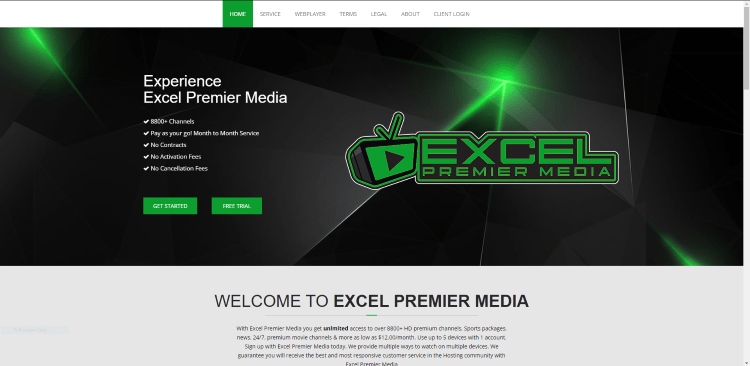 Prior to using the Excel Premier Media IPTV service, you will need to register for an account on their official website.