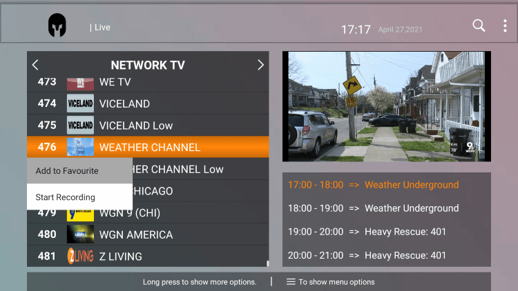 One of the best features within the Gladiator Hosting IPTV service is the ability to add channels to Favorites.