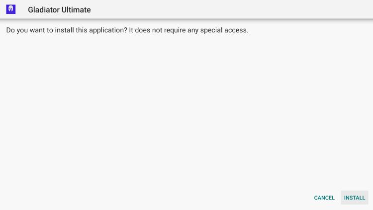 click install gladiator hosting iptv