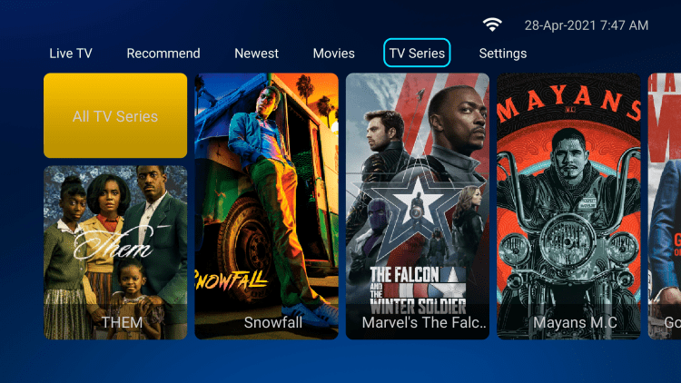 There are also numerous VOD options with any subscription plan.