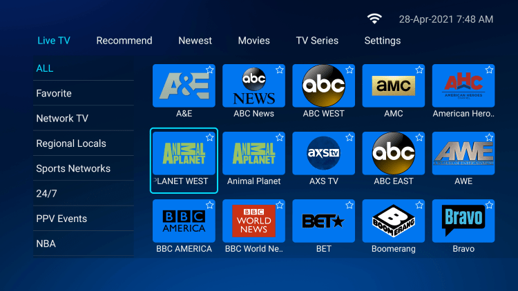One of the best features within the HUTV IPTV service is the ability to add channels to Favorites.