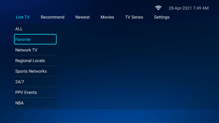 That's it! You can now add/remove channels from Favorites within hutv iptv