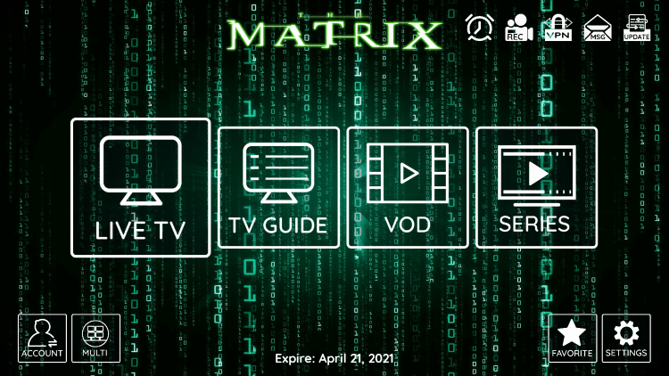 matrix iptv