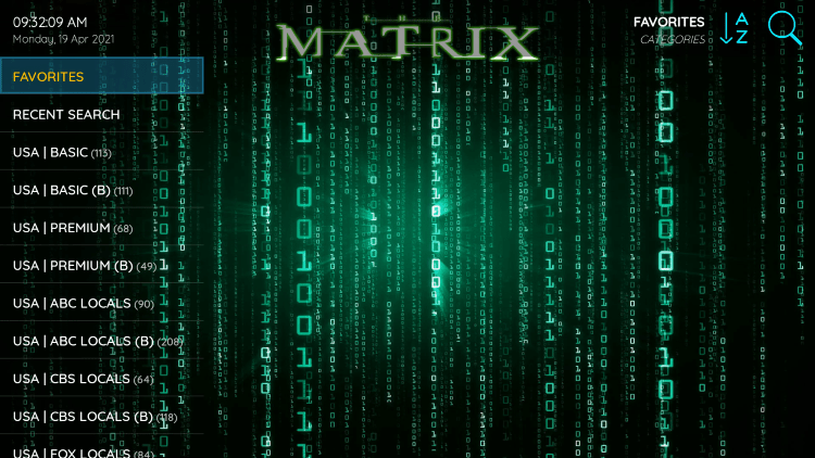 That's it! You can now add/remove channels from Favorites within the matrix iptv service