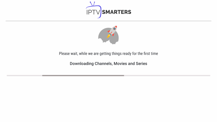 Wait a few seconds for the channels and VOD options to download.