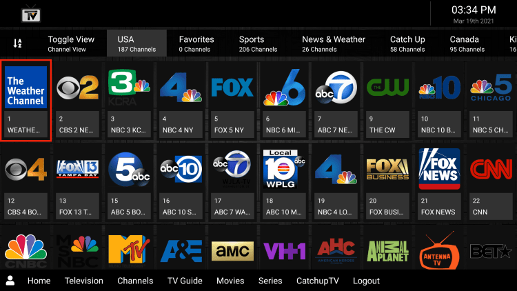 SKRN IPTV provides over 1,000 live channels starting for $20.00 per month with their standard subscription.