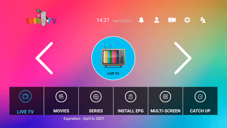 That's it! You have installed Spin TV on your device.