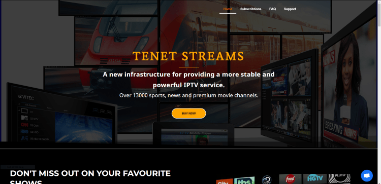 Prior to using the Tenet Streams IPTV service, you will need to register for an account on their official website.