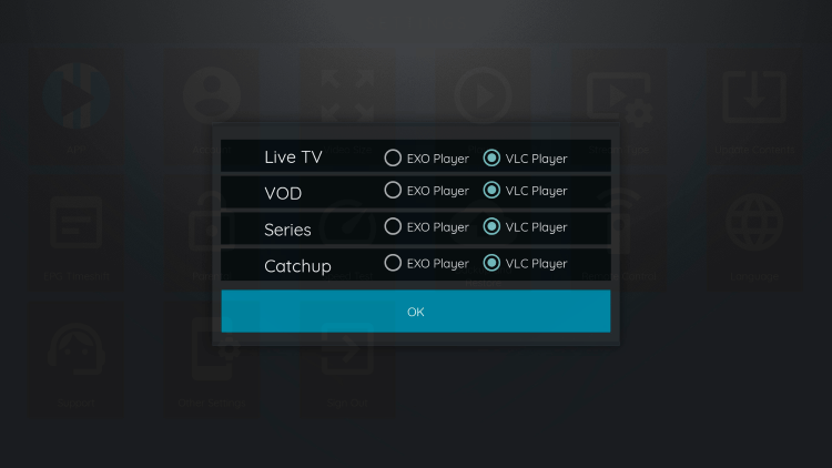 You can now integrate external video players within XCIPTV APK.