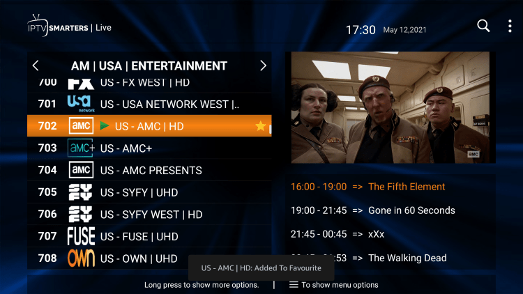 Altered Carbon IPTV provides over 1,000 live channels starting at $10.00/month with their standard plan.