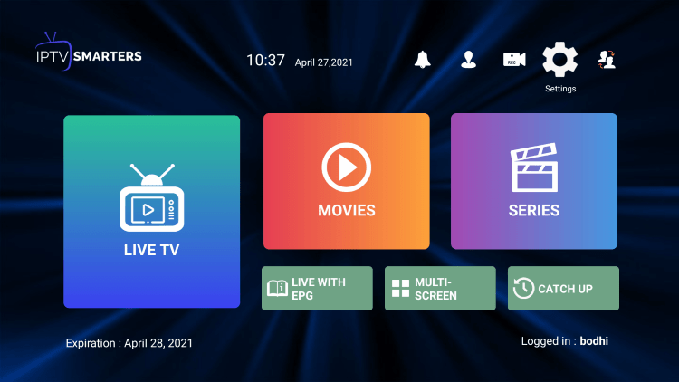 In the example below, we show how to integrate an external player within ClearStreamz IPTV.