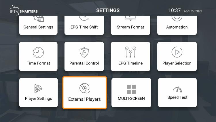 Click External Players.