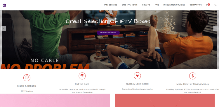 Prior to using the Epic IPTV service, you will need to register for an account on their official website.