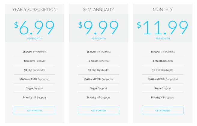 eternal tv pricing
