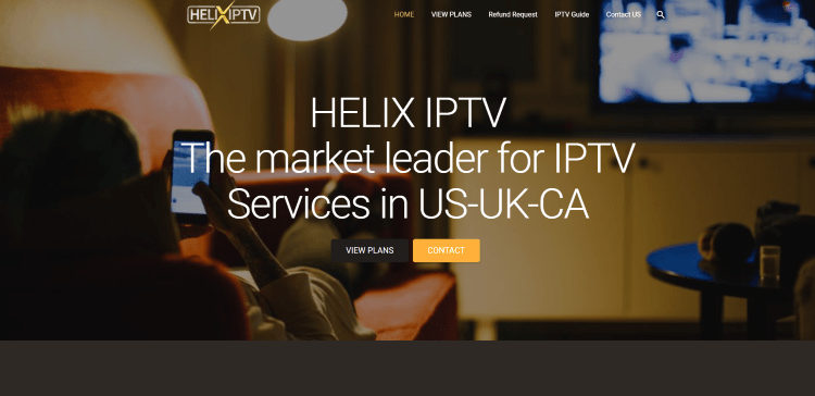 Prior to using the Helix IPTV service, you will need to register for an account on their website.