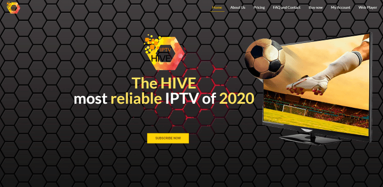 Prior to using the Hive IPTV service, you will need to register for an account on their official website.