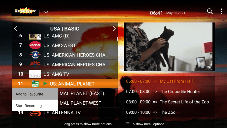 One of the best features within the Impact Hosting IPTV service is the ability to add channels to Favorites.