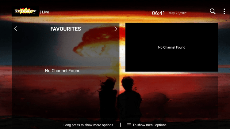 That's it! You can now add/remove channels from Favorites within impact hosting iptv