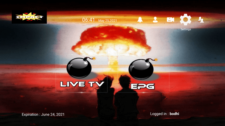 In the example below, we show how to integrate an external player within Impact Hosting IPTV.