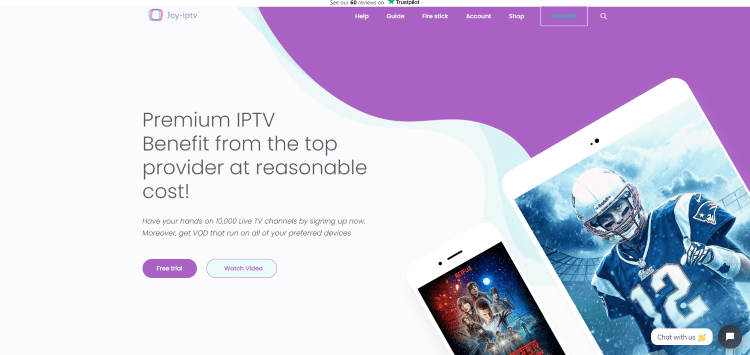 Prior to using the Joy IPTV service, you will need to register for an account on their official website.