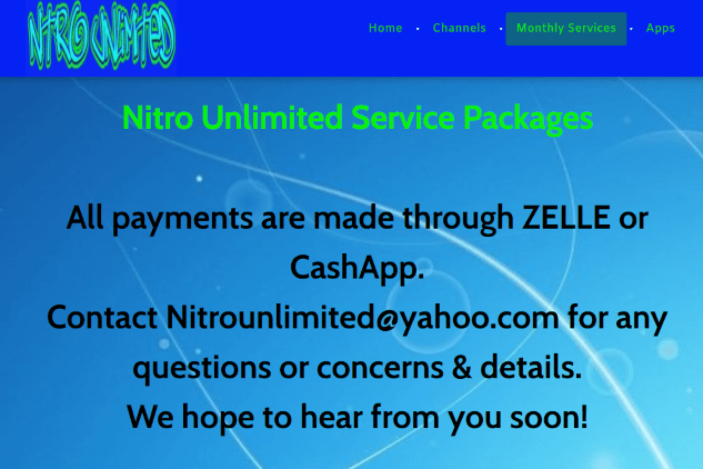 That's it! You have successfully registered for an account with Nitro TV IPTV.