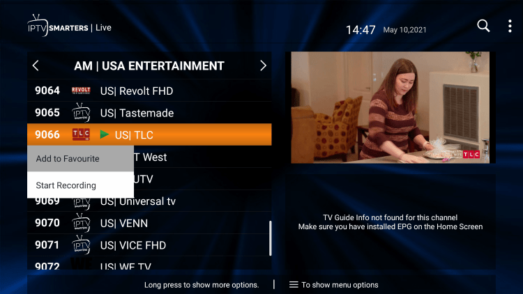 One of the best features within the NoCableOTT IPTV service is the ability to add channels to Favorites.