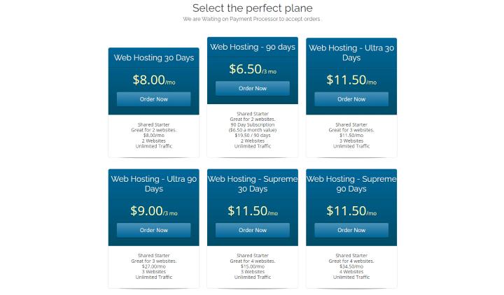 opt hosting pricing