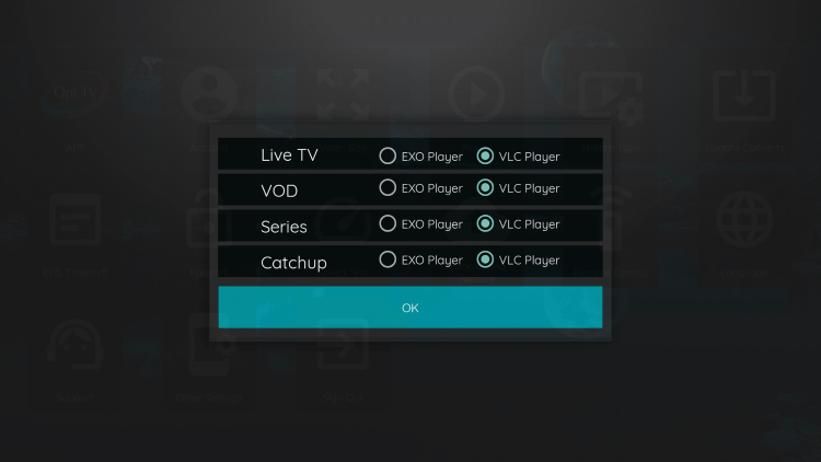 That's it! You can now integrate external video players within opt hosting iptv