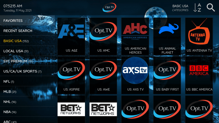 As mentioned previously, OPT Hosting IPTV provides over 1,300 live channels starting at $8.00/month with their standard plan.
