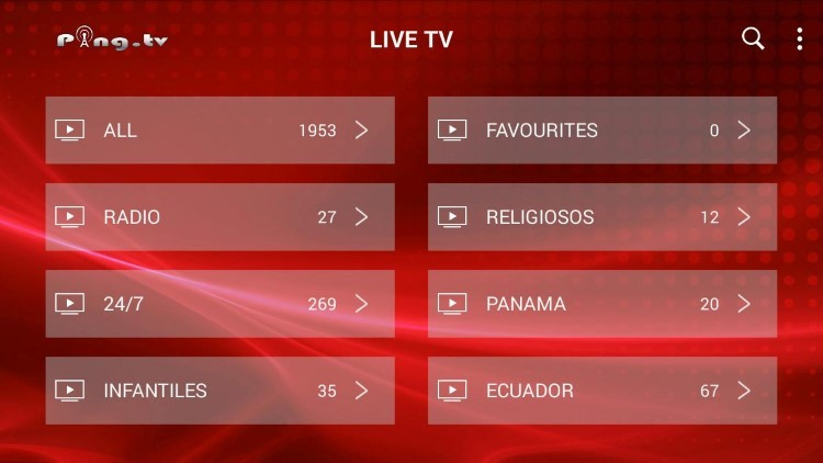Ping IPTV provides over 800 live channels starting at $24.00/month with their standard plan.