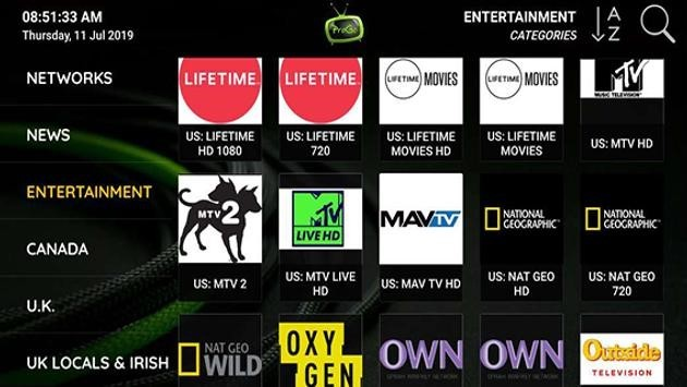 ProgoTV provides over 7,000 live channels starting at $35.00/month with their standard plan.