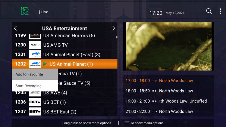 One of the best features within the Reactive IPTV service is the ability to add channels to Favorites.