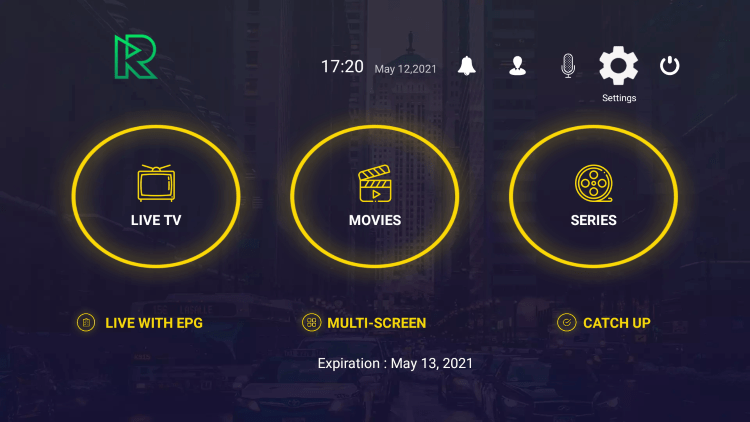 In the example below, we show how to integrate an external player within Reactive IPTV.
