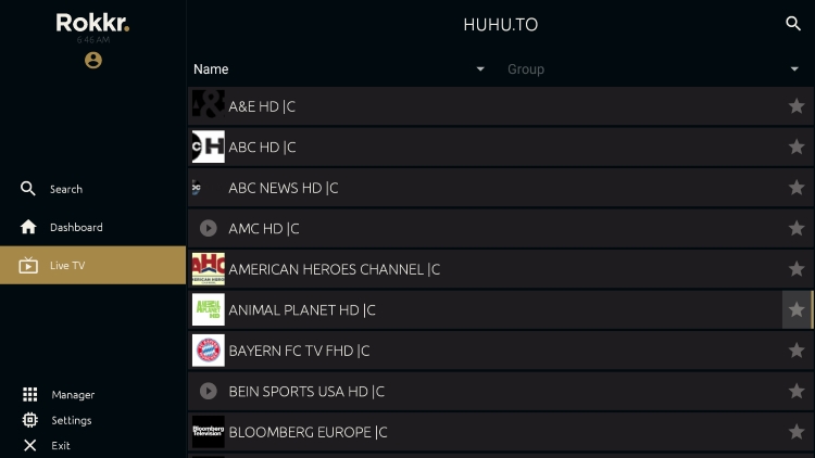 One great feature of this IPTV app is the ability to add channels to favorites.
