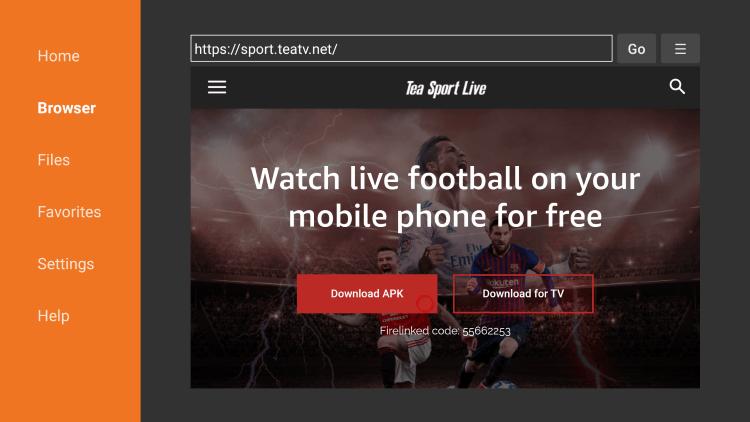 tea sports live website