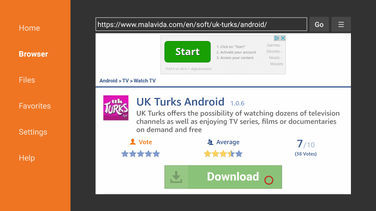 Scroll down and click Download under UK Turks Android.