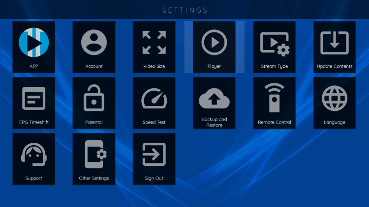 In the example below, we show how to integrate an external player within Viper IPTV.