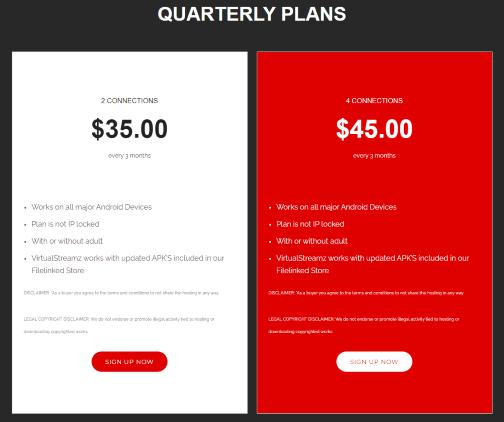 virtual streamz pricing