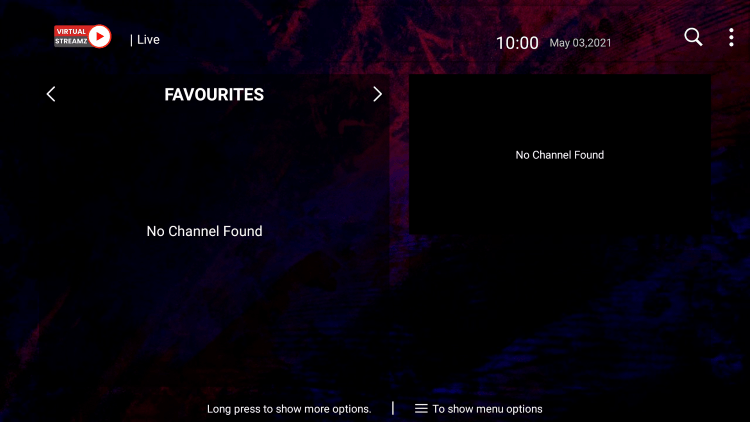 That's it! You can now add/remove channels from Favorites within virtual streamz iptv