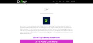 x tv dingtv website