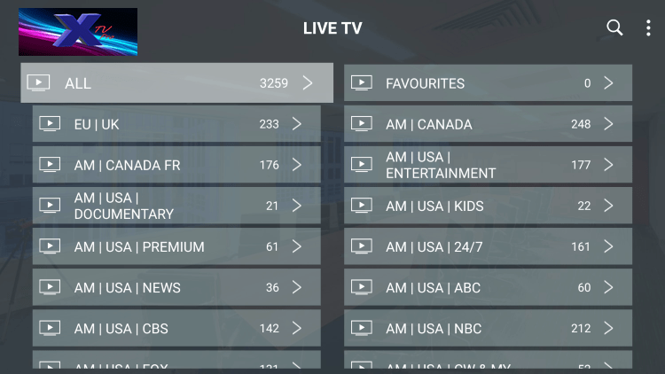 As mentioned previously, X TV IPTV provides over 2,500 live channels starting at $20.00/month with their standard plan.
